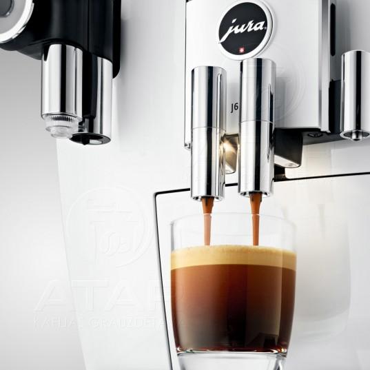 Kafijas automāts JURA J6 (Piano White)   no ekspozīcijas JURA kafijas automāti