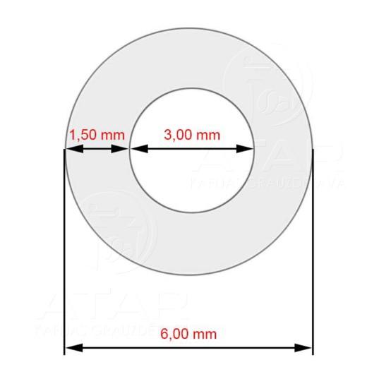 JURA piena sistēmas silikona trubiņa, 3x1.5x360mm