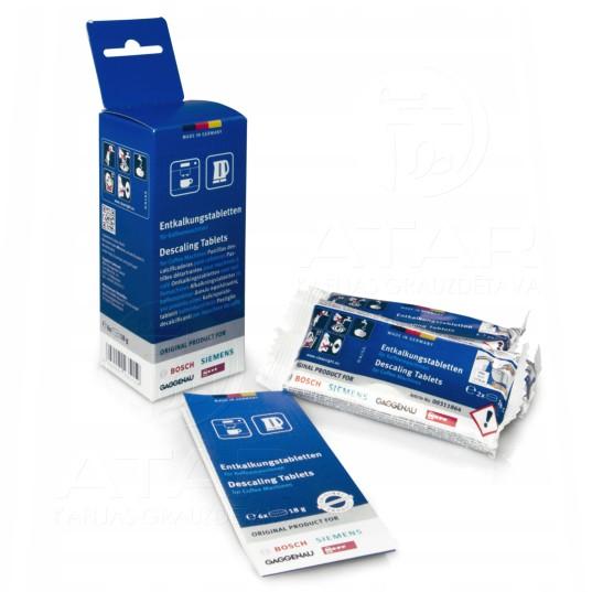 Atkaļķošanas tabletes Siemens & Bosch, 18 g, 6 gab. Kafijas automātu kopšanas līdzekļi