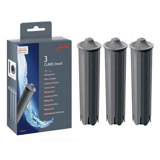 Ūdens filtrs JURA CLARIS Smart, 3 gab. JURA apkopes līdzekļi