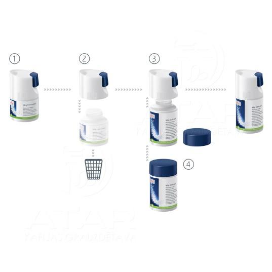Mini granulas piena sistēmas tīrīšanai, uzpildes pudele, 90 g